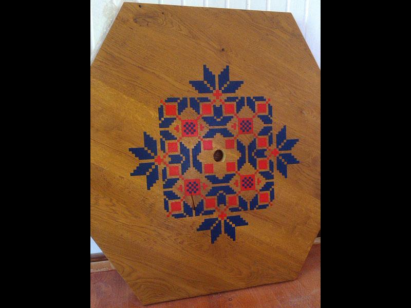 Роспись мебели в этно стиле