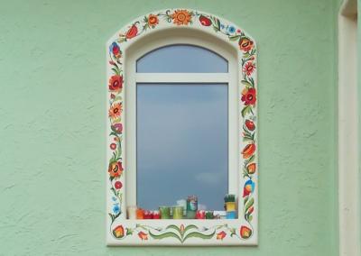 Роспись фасада в украинском стиле
