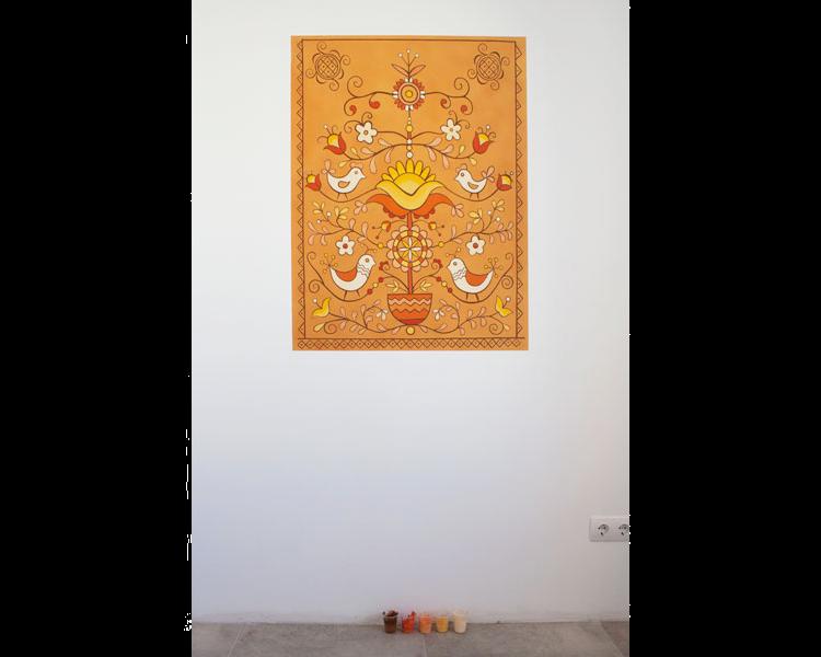 Роспись стен на кухне в украинском стиле