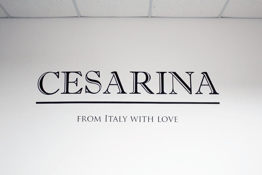 Нанесение надписей, логотипа на стену