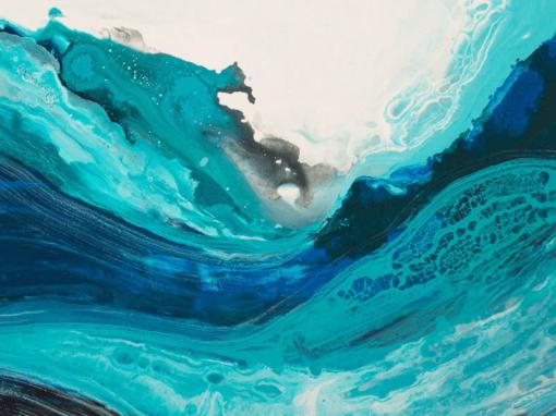 Картина Движение в синем